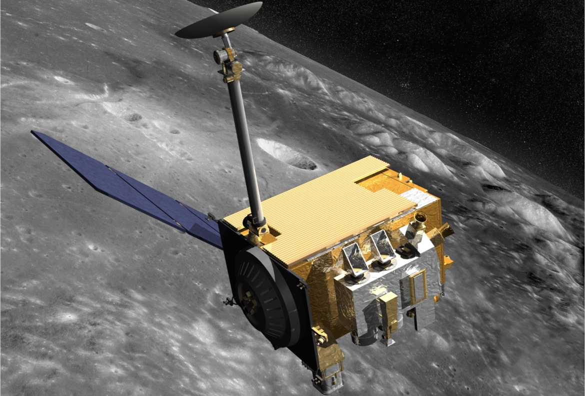 NASA image of the Lunar Reconnaissance Orbiter