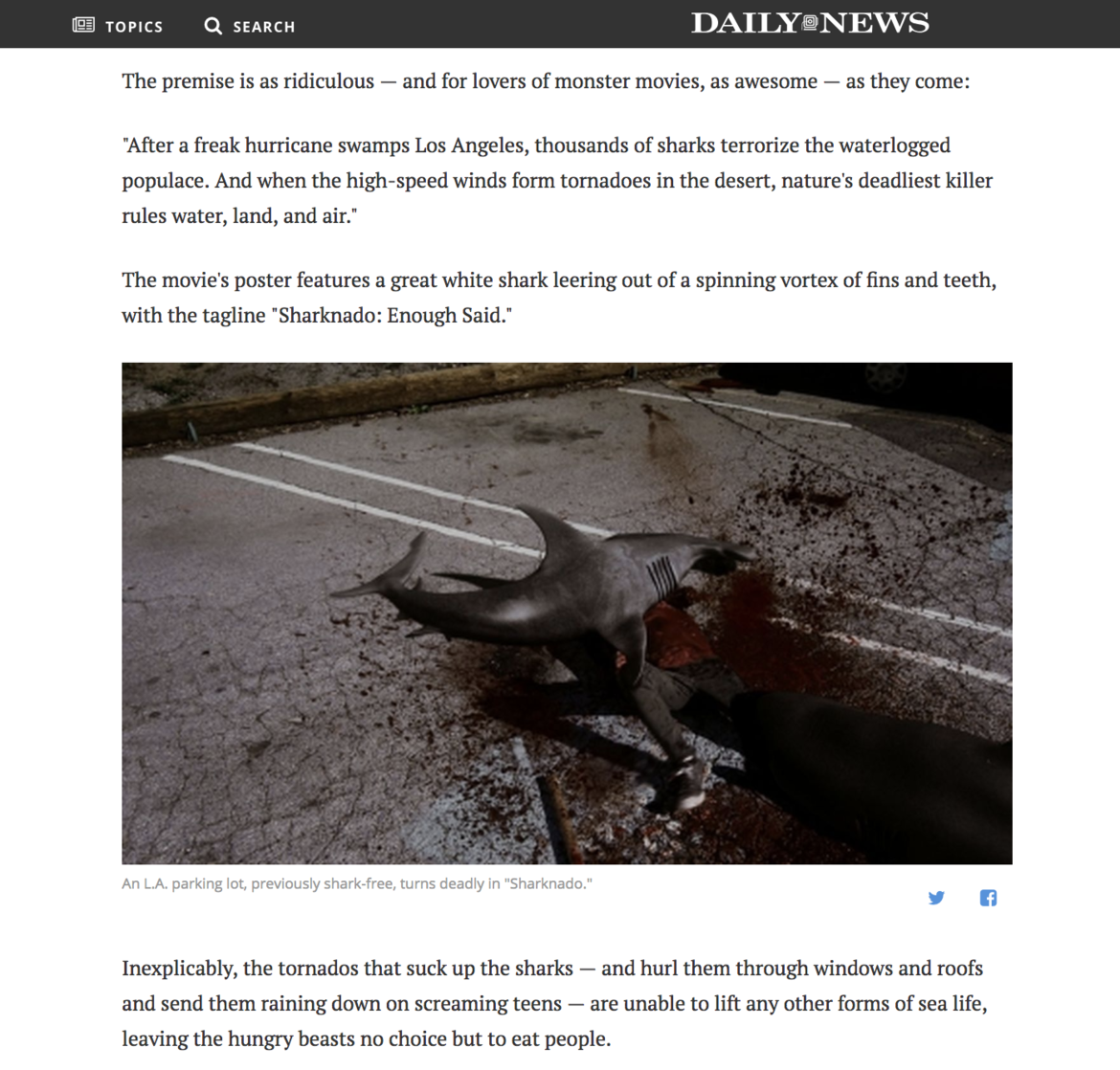 Daily News Sharknado
