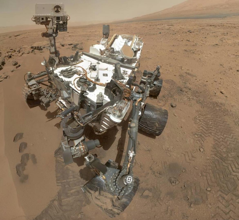 NASA Curiosity Rover on Mars