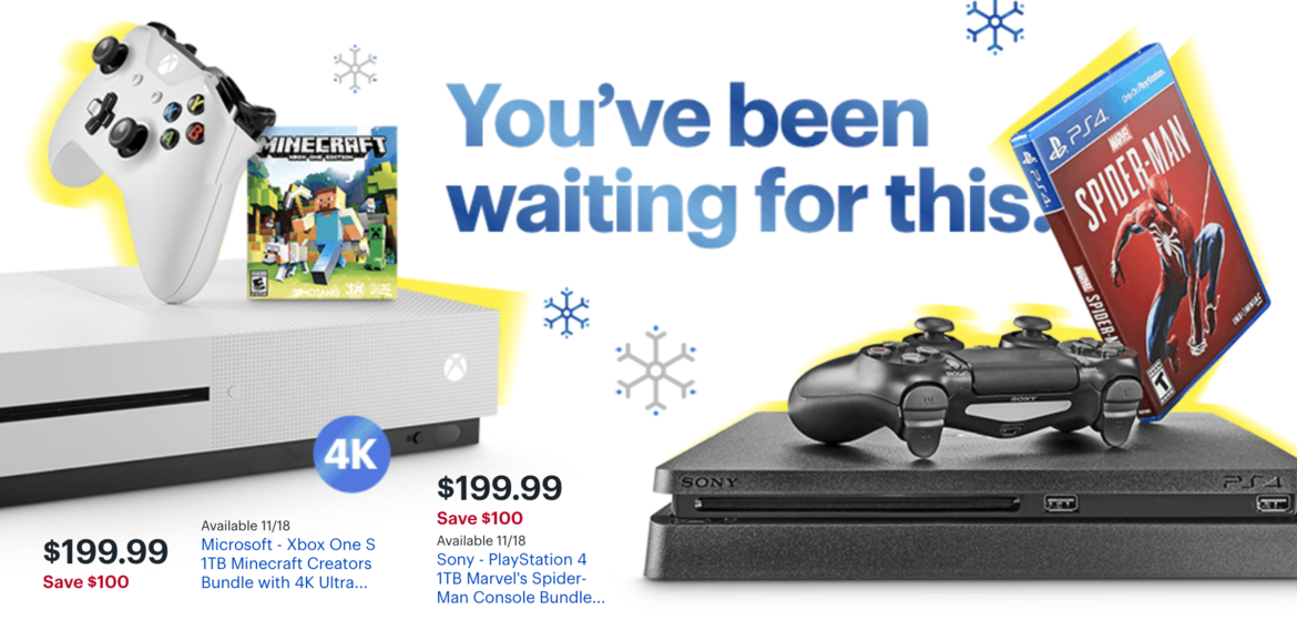346a2dcd4f7 best buy black friday. Credit  Best Buy. BEST CONSOLE DEALS