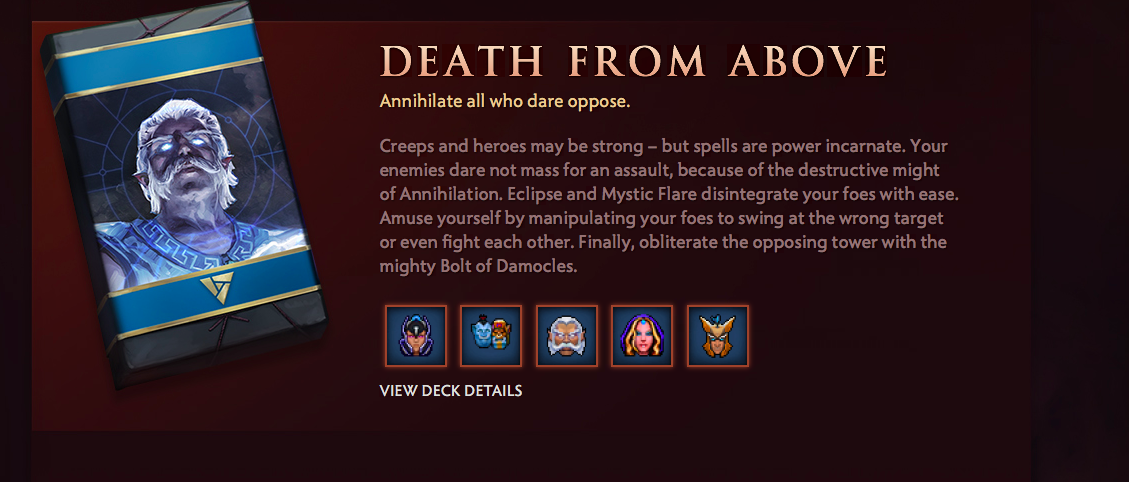 Death from Above Artifact deck Valve