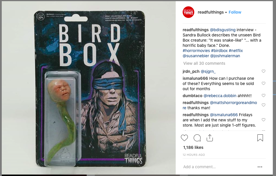 Artist Imagines Bird Box Monsters As Retro Toy Thanks To A