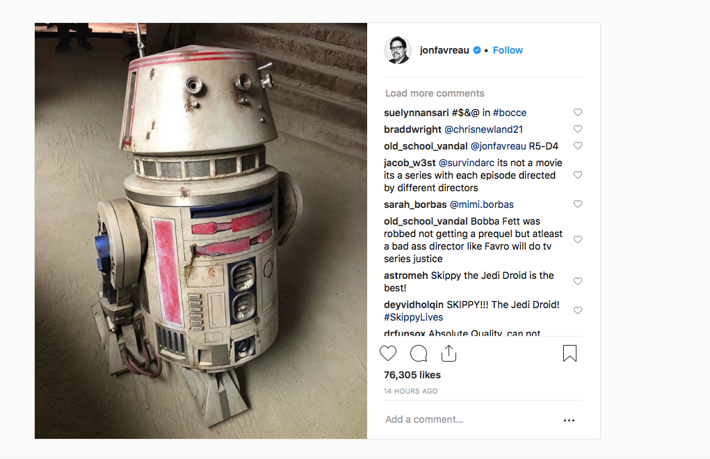 Jon Favreau R5-D4 Droid Star Wars The Mandalorian