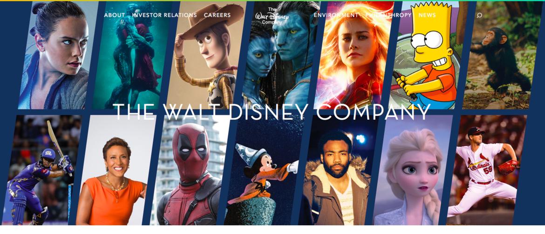 Disney corporate website