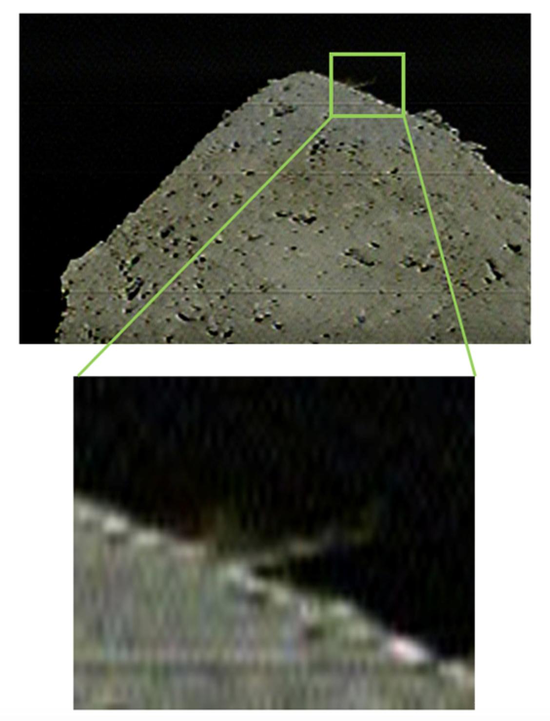 JAXA's Hayabusa2 bombing a crater into the asteroid Ryugu