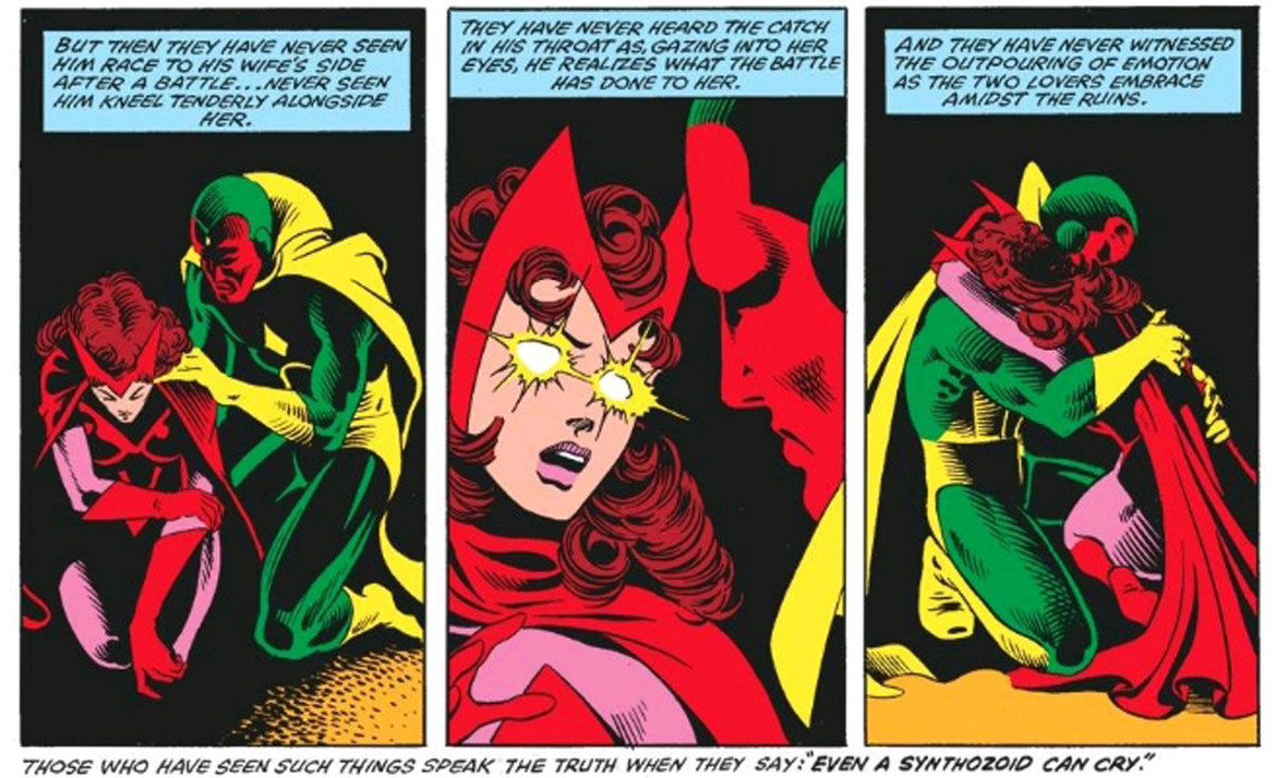 The very weird marriage of The Vision and the Scarlet Witch