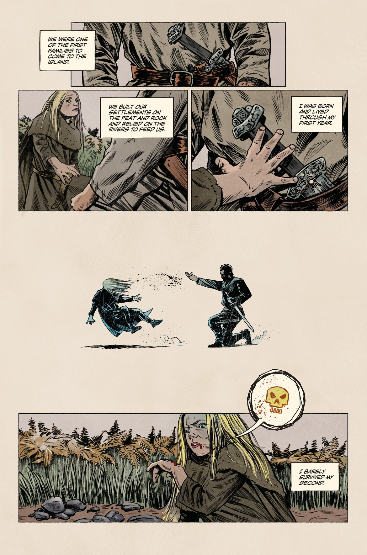 Sword Daughter Issue #1, Page 3, Dark Horse