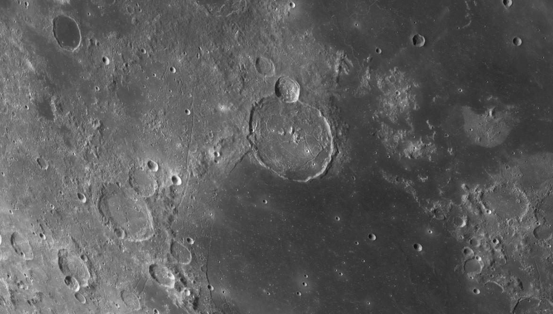 The lunar crater Gassendi and its environs. Credit: NASA/GSFC/Arizona State University / Seán Doran