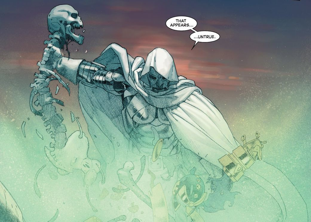 Dr. Doom from Secret Wars #8 (Writer Jonathan Hickman, Artist Esad Ribic)