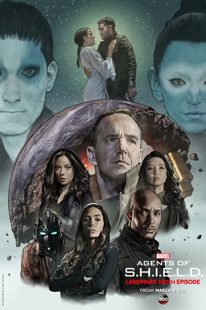 Agents of SHIELD Road to 100 Season 5 poster