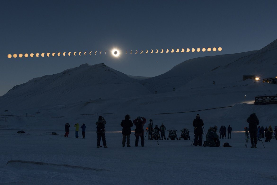 eclipse sequence over Norway