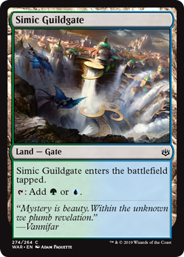 Simic Guildgate Magic the Gathering War of the Spark
