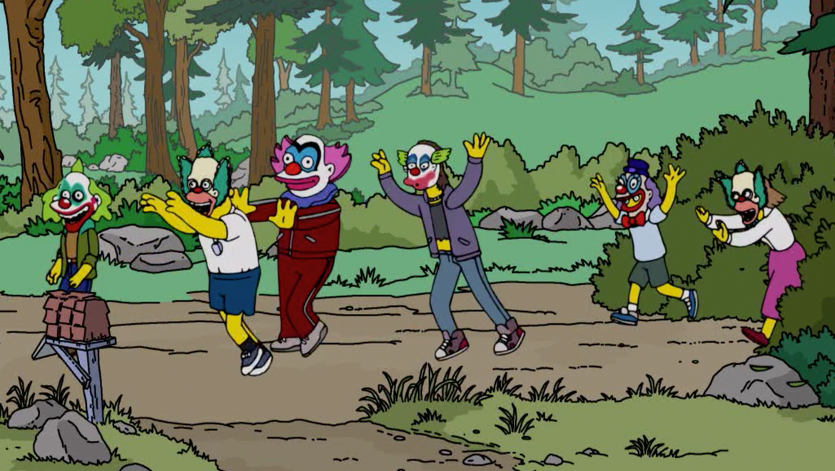 Simpsons Killer Klowns parody