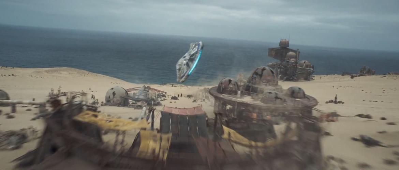 Solo trailer 2- Falcon over village