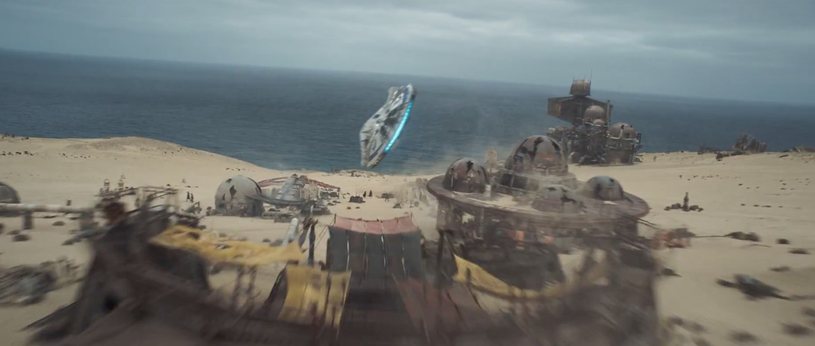 Solo trailer 2- Falcon over village