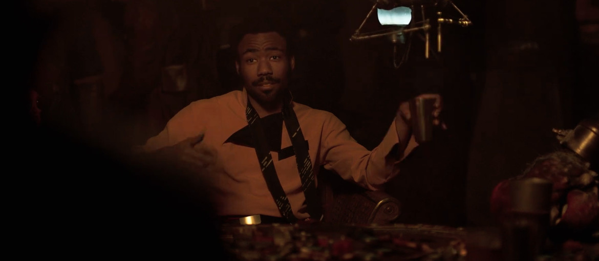 Solo trailer 2- Lando drinks