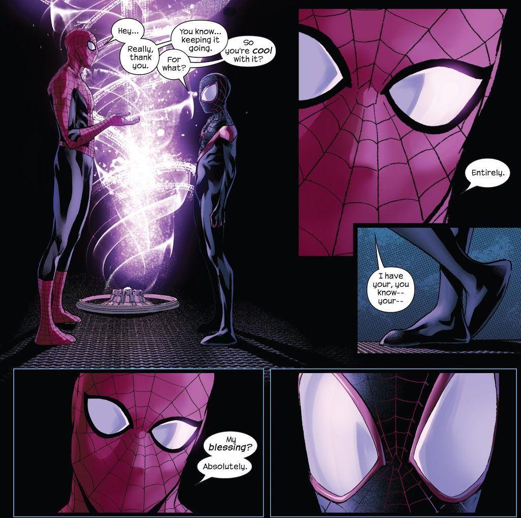 Spider-Men #5 (Writer Brian Michael Bendis, Artist Sara Pichelli)