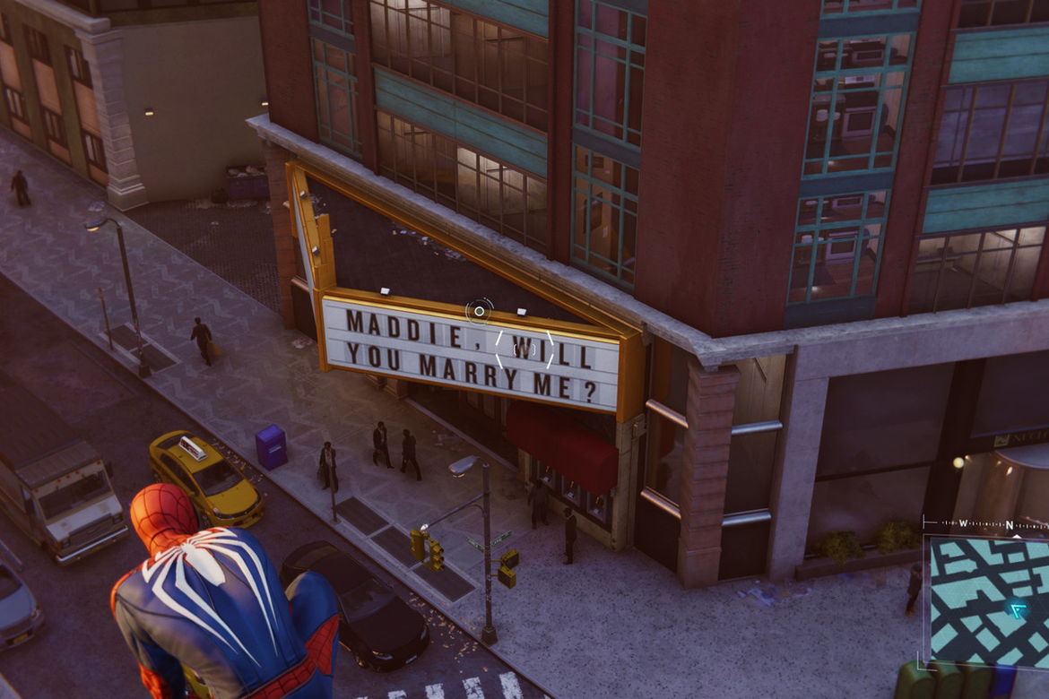 Marvel's Spider-Man PS4 marriage proposal