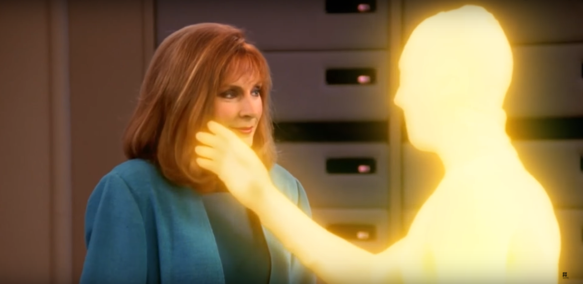 star trek the next generation beverly crusher bad romances syfywire screengrab