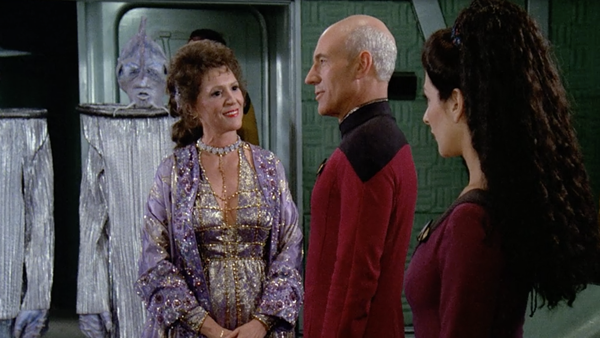 Captain Picard and Lwaxana Troi, Star Trek: The Next Generation