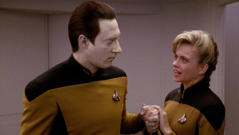 Data dating, Star Trek: The Next Generation