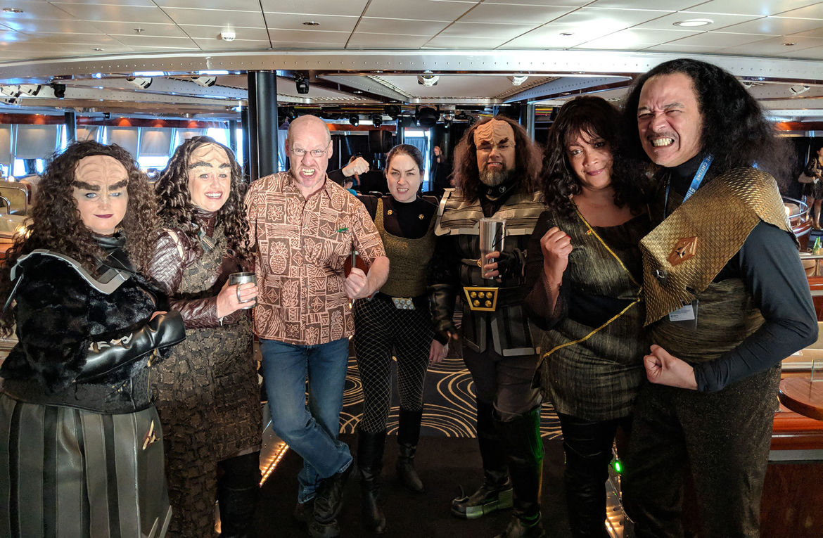 Despite appearances, they were very friendly... as was everyone on the Star Trek Cruise. Credit: Phil Plait