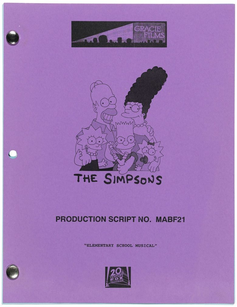 stephen hawking simpsons script