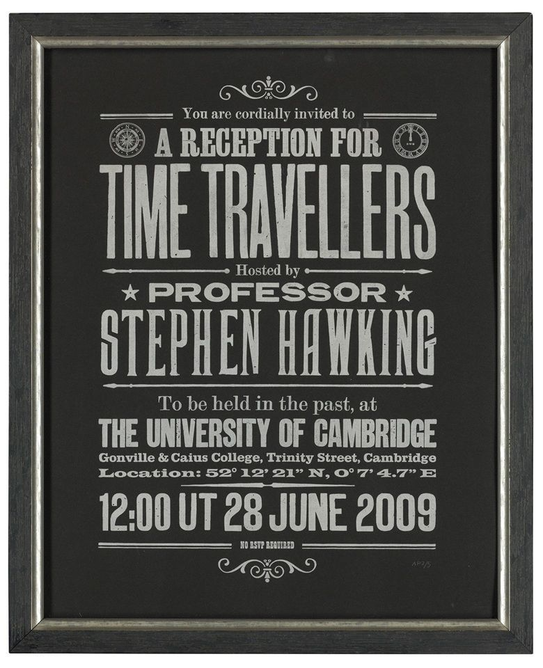stephen hawking time travellers reception