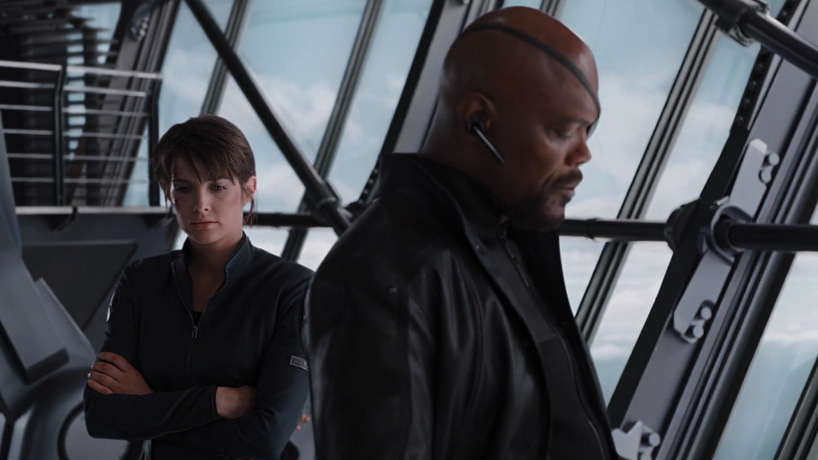 Maria Hill and Nick Fury, The Avengers
