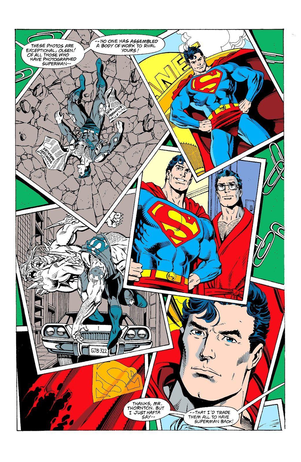 Superman #77 (Art and layout by Dan Jurgens, Finishing by Brett Breeding)