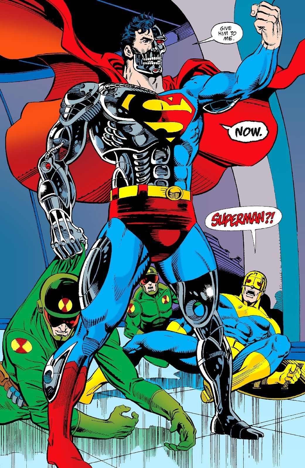 Superman #78 (Art and layout by Dan Jurgens, finished by Brett Breeding)