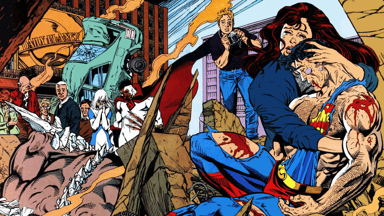 Superman Lois Jimmy Death of Superman