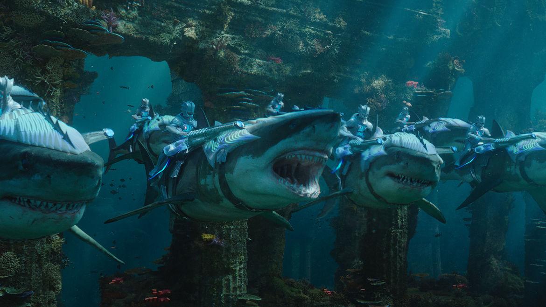 Aquaman underwater sea creatures
