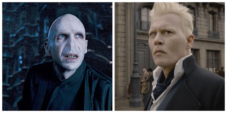 Voldemort Grindelwald Ralph Fiennes Johnny Depp Harry Potter Fantastic Beasts