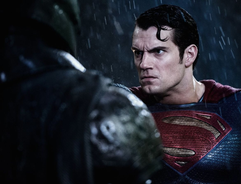 Batman v Superman face off