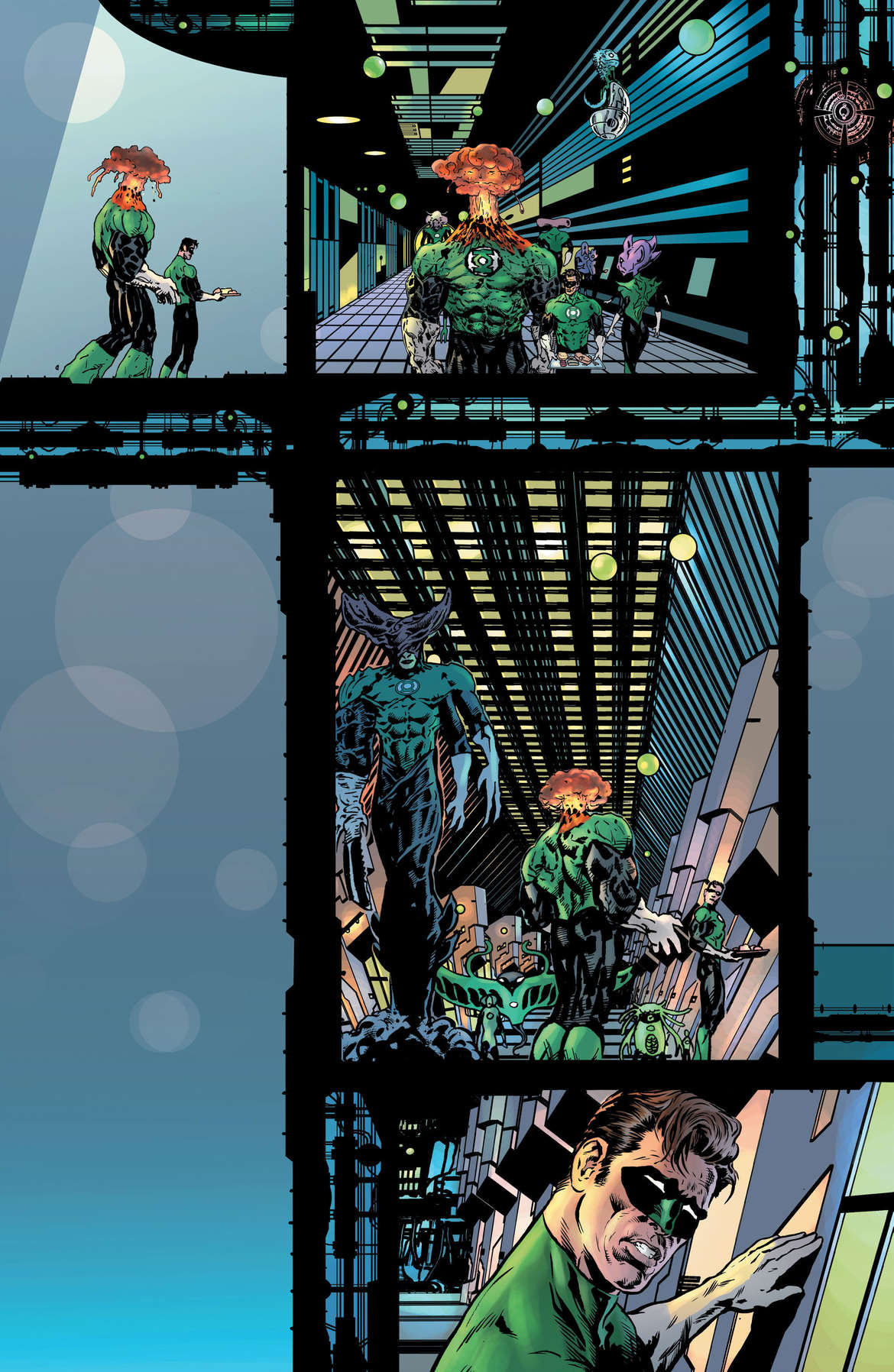 The Green Lantern 2 Page 8 Unlettered