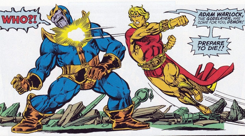 Thanos vs. Adam Warlock