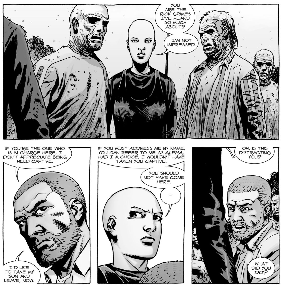 The Walking Dead issue 143 screen grab