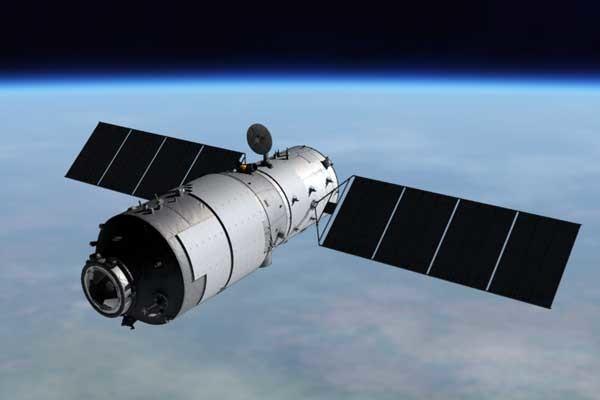 Artwork depicting Tiangong-1 in orbit. Credit: CNSA