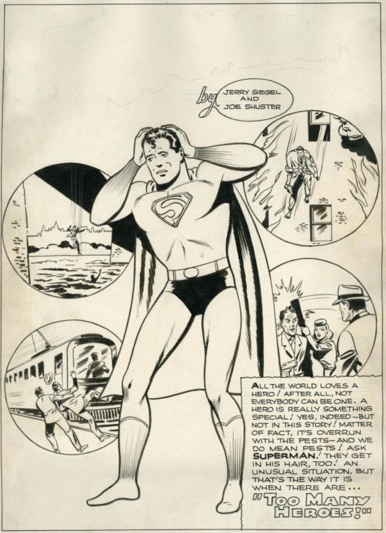 Superman Lost Story by Jerry Siegel and Joe Shuster Full Page