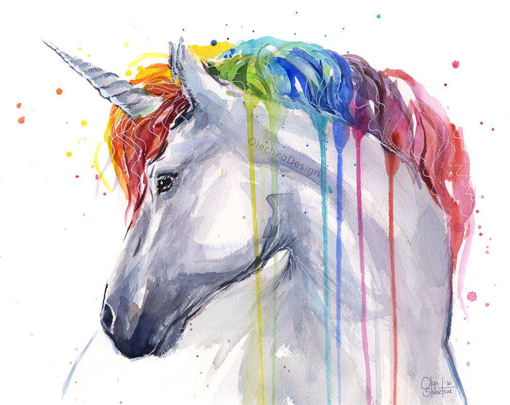Unicorn rainbow Olga Shvartsur