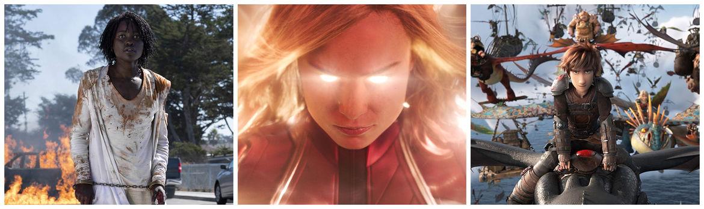 Us Captain Marvel & The Hidden World