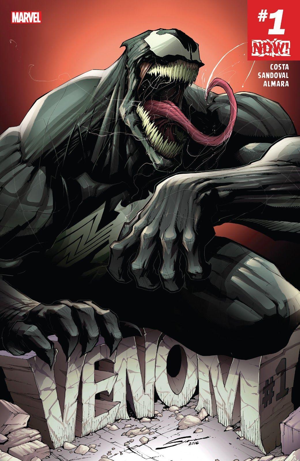 Venom #1 2016 (Writer Mike Costa, Artist Gerardo Sondoval)