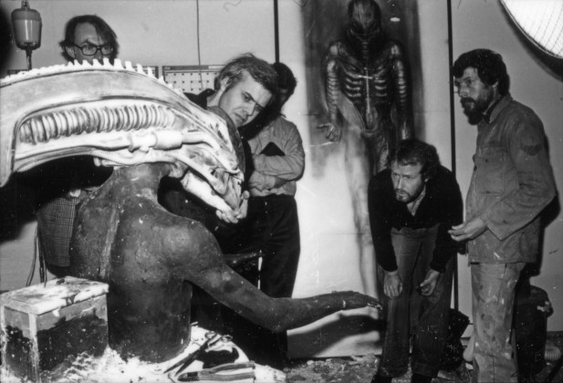H.R. Giger and Ridley Scott