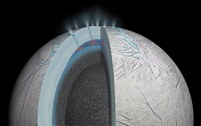 cutaway diagram of Enceladus
