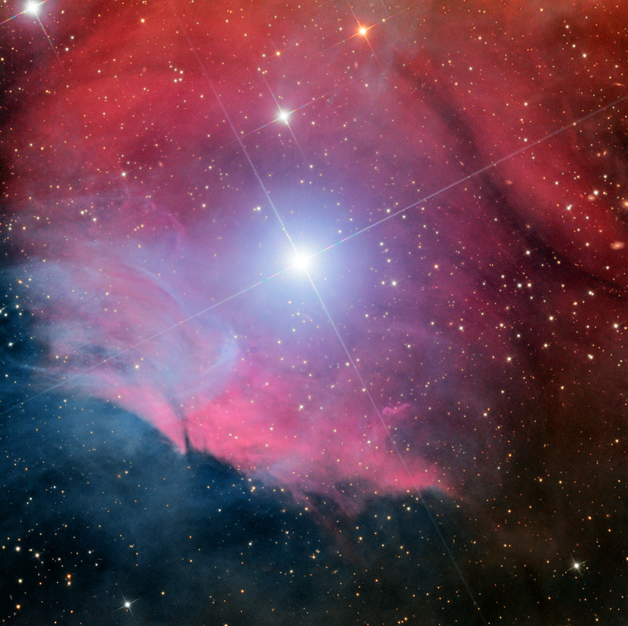 A reflection and emission nebula