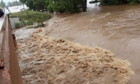 A normally sedate Boulder Creek became a torrent during the devastating flood of 2013.