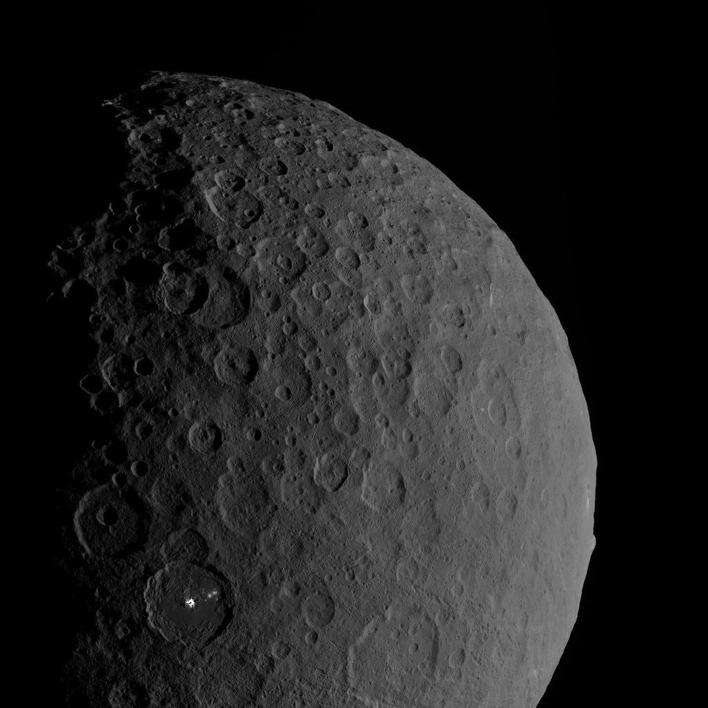 Ceres, with Occator and Ahuna Mons