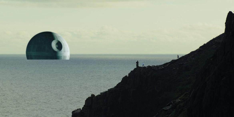 Death Star floating