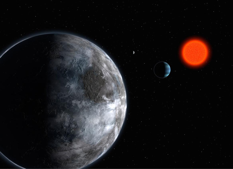 artwork depicting exoplanet Gliese 581c